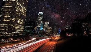 All About Stars, and Neon Lights In Starry Los Angeles Nights