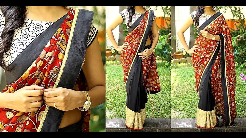 Flaunt Your Sarees With Fusion Twist To It