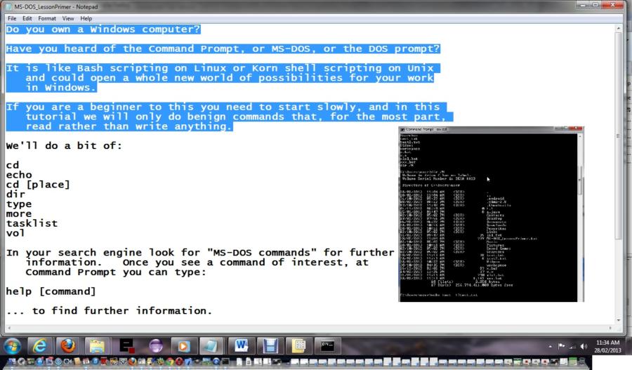 A Primer On Windows Batch Files