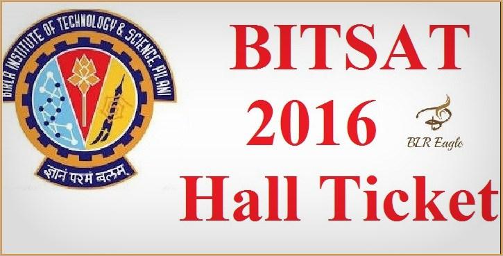 BITSAT Admit Card On Examination Hall