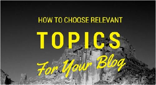Set Up Your Blog Topics In Advance