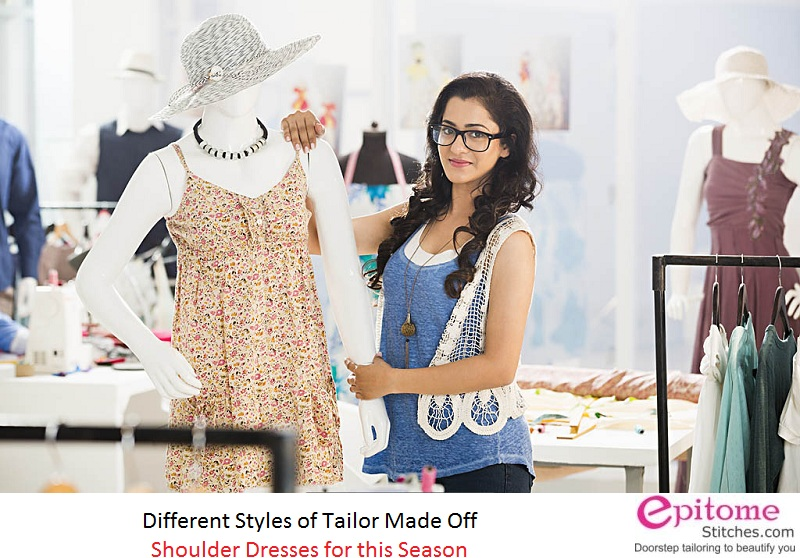 Different Styles Of Tailor Made Off Shoulder Dresses For This Season